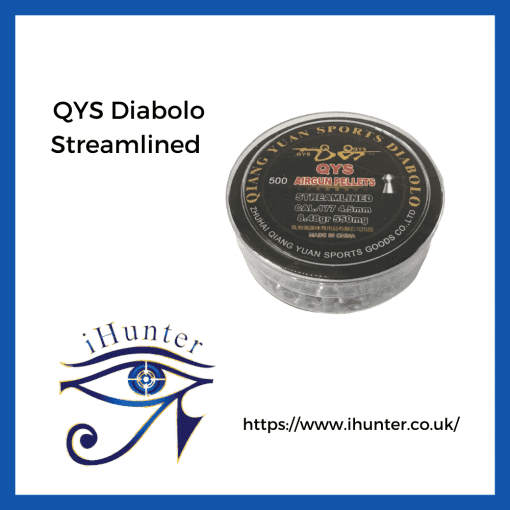 airgun pellets by QYS streamlined