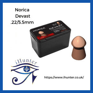 .22 copper coated pellets Devast by Norica