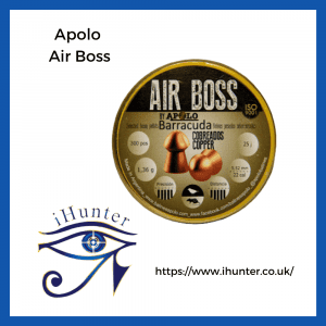 copper airgun pellets Apolo Air Boss Barracuda Copper .22 Pellets