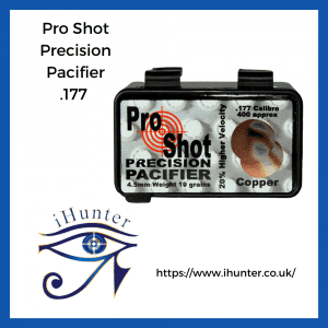 copper coated airgun pellets by pro shot Precision Pacifier