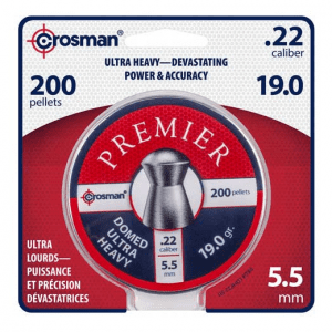 Premium Ultra Heavy .22 Crosman Domed Pellets