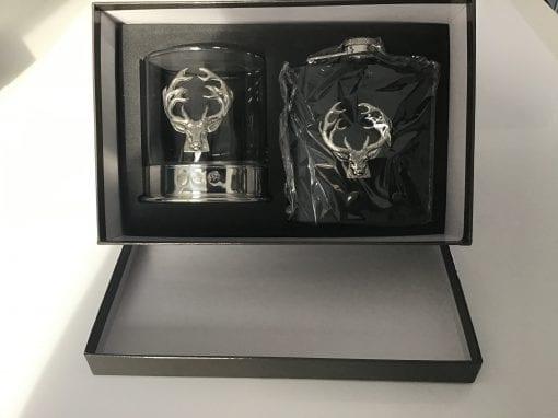 flask and glass bisley