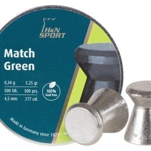 Lead free H&N match pellets