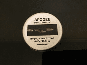 Apogee domed Airgun pellets