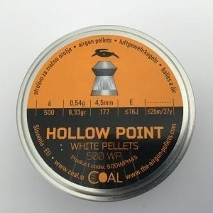 White hollow point pellets