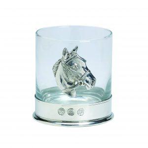 Whisky Glass Horse Motif